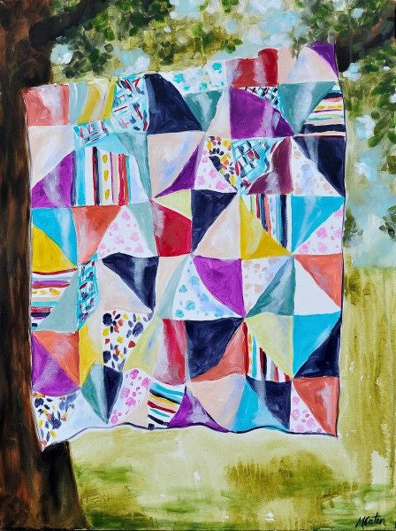Patchwork - Fine Art Print - Prophetic Christian Fine Art by Mindi Oaten Art