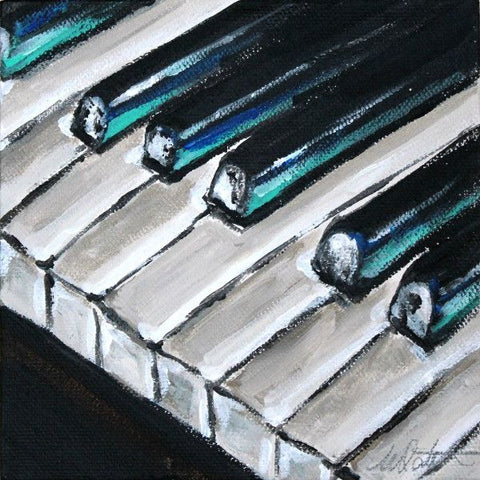 Piano | Day 28 - Fine Art Print - from $20 , Painting - Mindi Oaten Art, Mindi Oaten Art