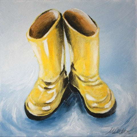 Rain Boots | Day 22 - Fine Art Print - Prophetic Christian Fine Art by Mindi Oaten Art