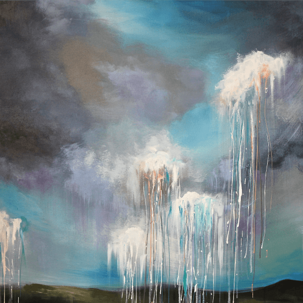 Heavenly Rain - Fine Art Print - Prophetic Christian Fine Art by Mindi Oaten Art