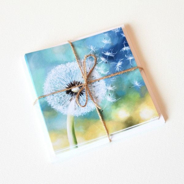'Seeds in the Wind' Note Cards - Set of 10 - Mindi Oaten Art