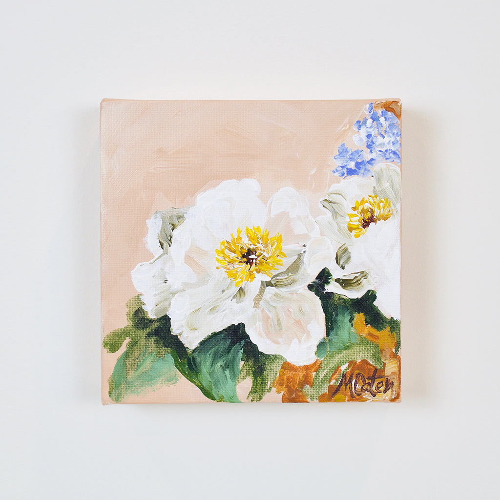 """Simplicity Blooms"" 6 x 6 inches acrylic painting on canvas"