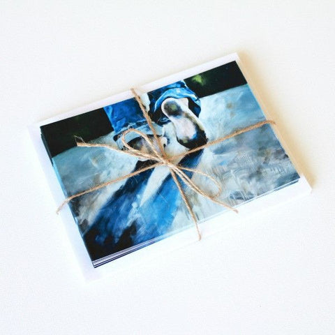 'Step Out' Note Cards - Set of 10 - Mindi Oaten Art