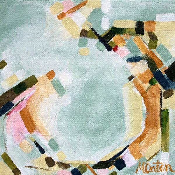 Subtle Beauty Abstract - Fine Art Print - Prophetic Christian Fine Art by Mindi Oaten Art