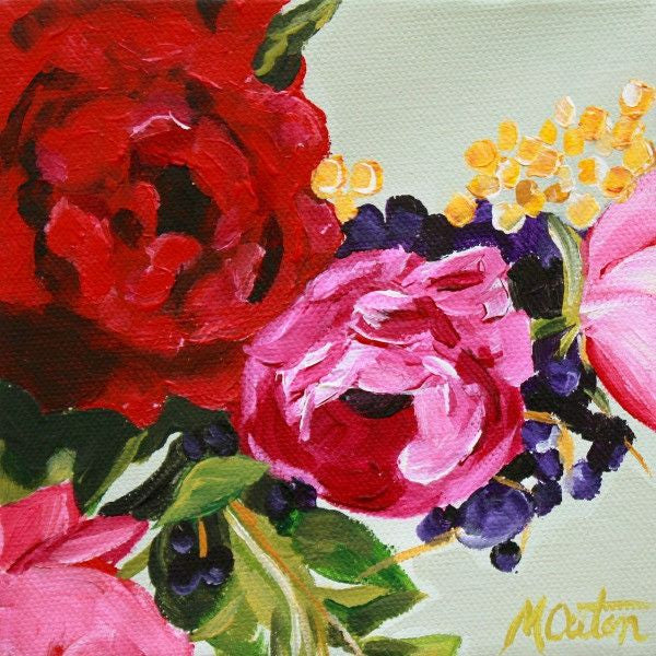 Hot Pink & Red Rose - Fine Art Print - Prophetic Christian Fine Art by Mindi Oaten Art