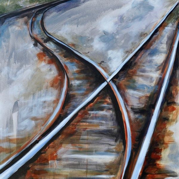 Switch Track - Fine Art Print - Prophetic Christian Fine Art by Mindi Oaten Art