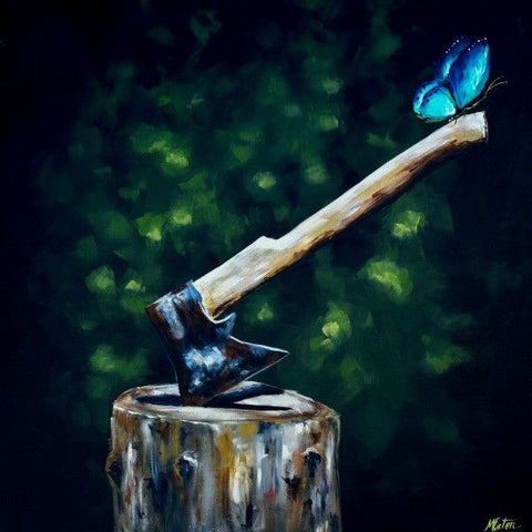 The Axe - Fine Art Print - Prophetic Christian Fine Art by Mindi Oaten Art