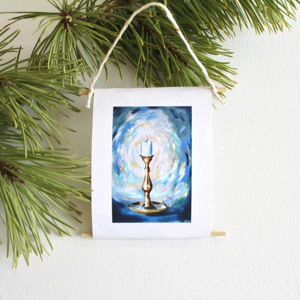 """The Candle"" - mini collectible - Prophetic Christian Fine Art by Mindi Oaten Art"