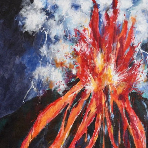 The Eruption - Fine Art Print - Prophetic Christian Fine Art by Mindi Oaten Art