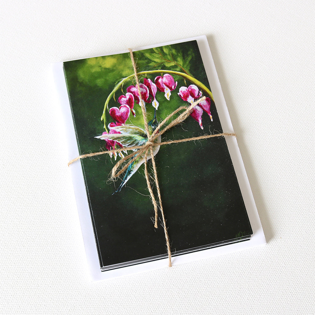 """The Hummingbird Pause, Selah"" Note Cards - Set of 8"