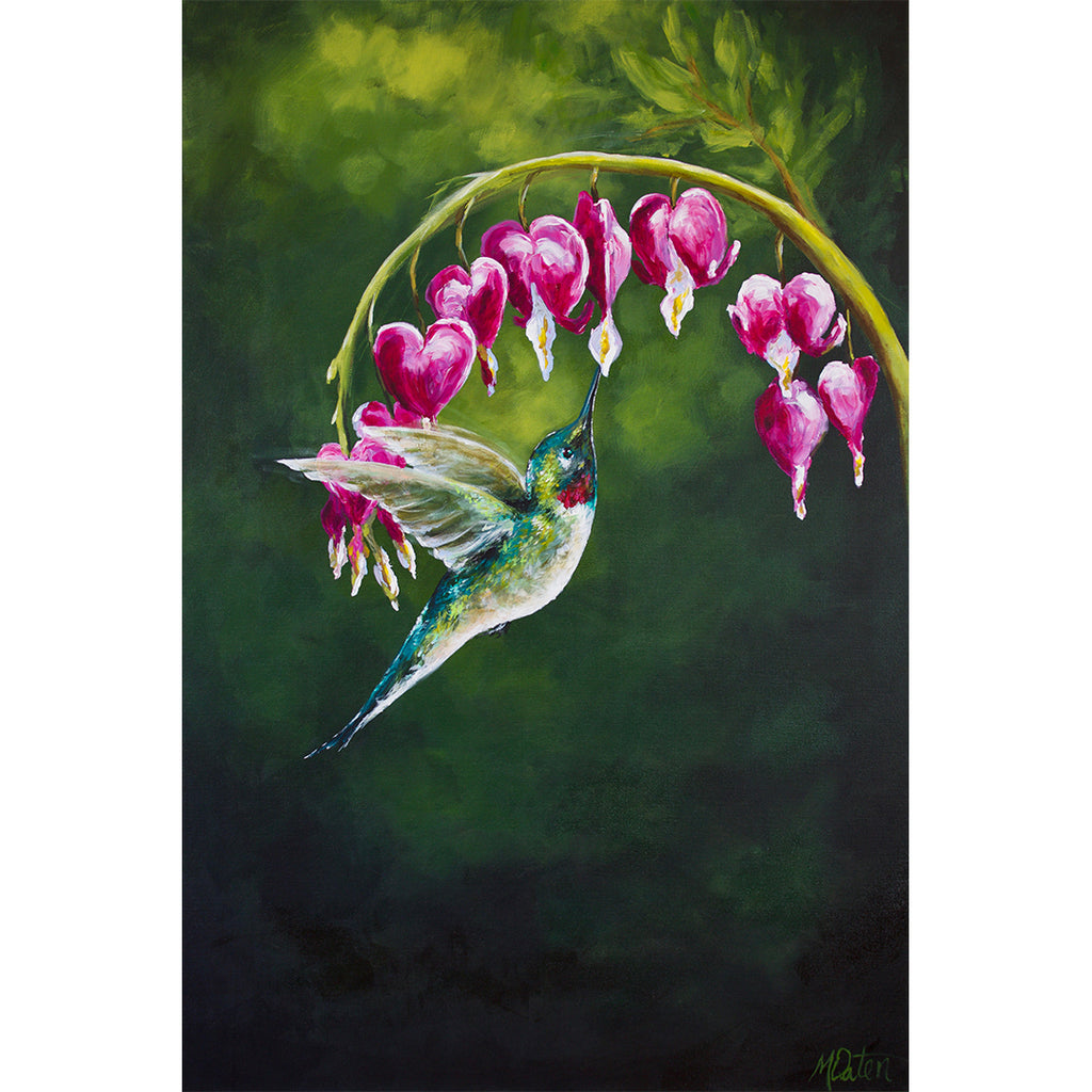 """The Hummingbird Pause, Selah"" 24 x 36 inches acrylic painting on canvas"