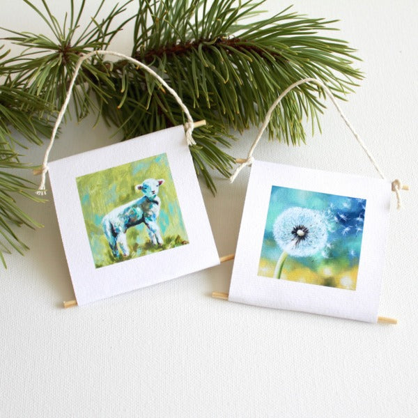 """The Lamb & The Dandelion"" - mini collectible 