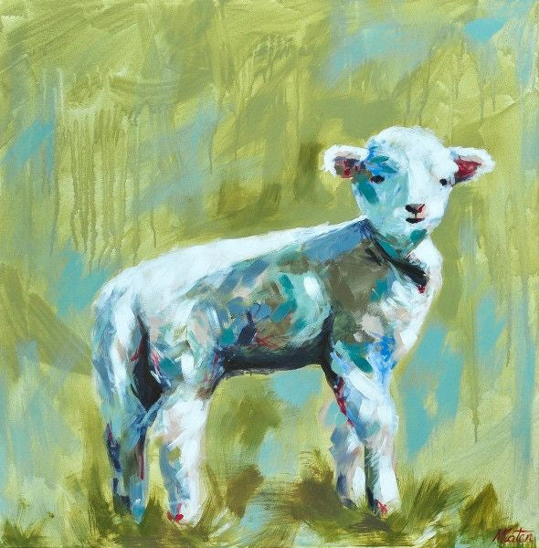 The Lamb - Fine Art Print - Prophetic Christian Fine Art by Mindi Oaten Art