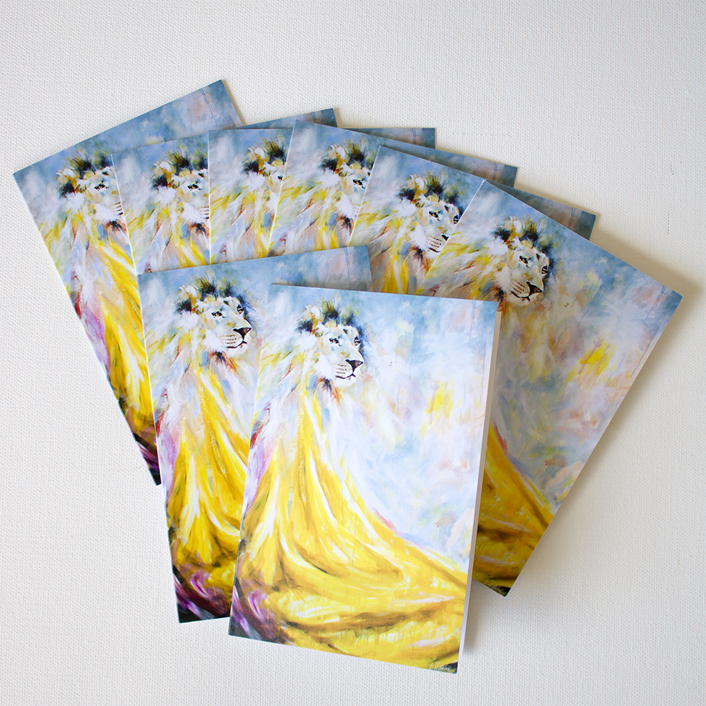 """The Lion"" Note Cards - Set of 8"