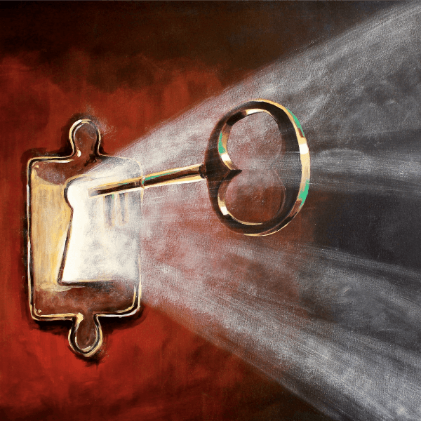 The Unlocking - Fine Art Print - Prophetic Christian Fine Art by Mindi Oaten Art