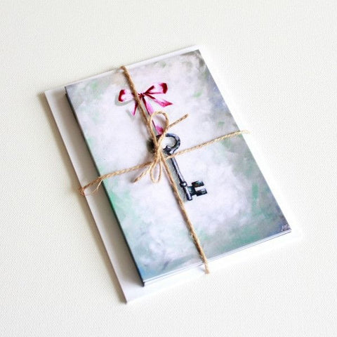 'This Key' Note Cards - Set of 6 - Mindi Oaten Art