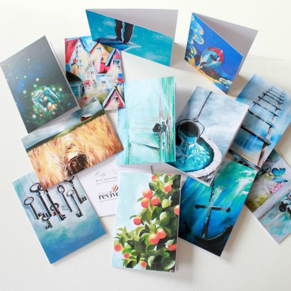 """Open Door"" Assorted Note Cards - Set of 12 - Prophetic Christian Fine Art by Mindi Oaten Art"