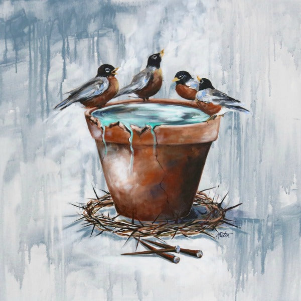 Unified Praise - Fine Art Print - Prophetic Christian Fine Art by Mindi Oaten Art