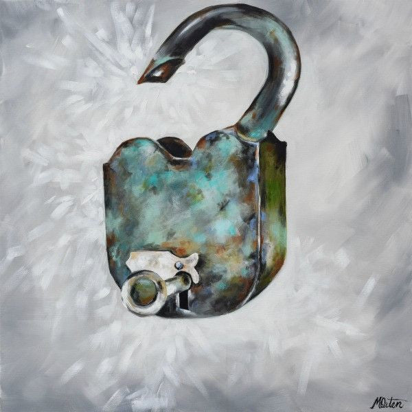 Unlocked - Fine Art Print - Prophetic Christian Fine Art by Mindi Oaten Art