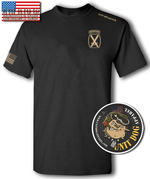 10th MOUNTAIN DIVISION - UNITDOG 1776 - T-Shirt