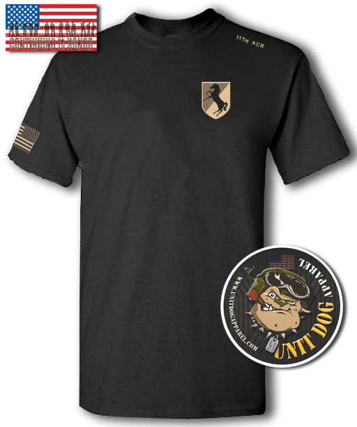 11th ARMORED CAVALRY REGIMENT - UNITDOG 1776 - T-Shirt
