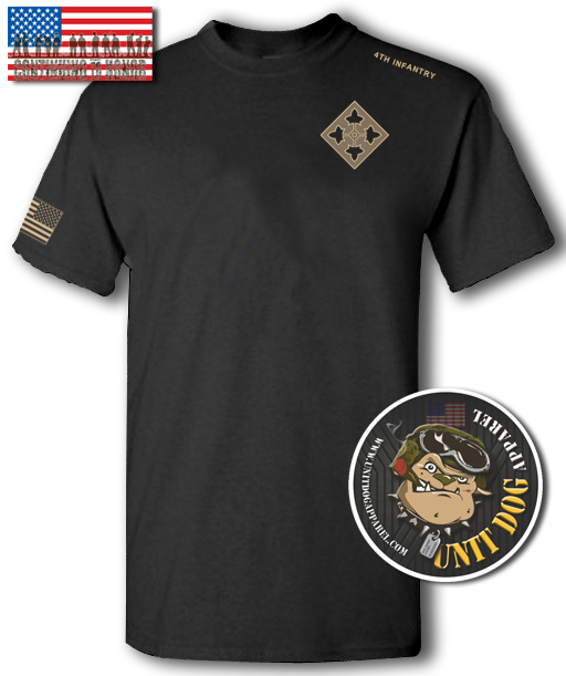 4th INFANTRY DIVISION - UNITDOG 1776 - Short-Sleeve Unisex T-Shirt