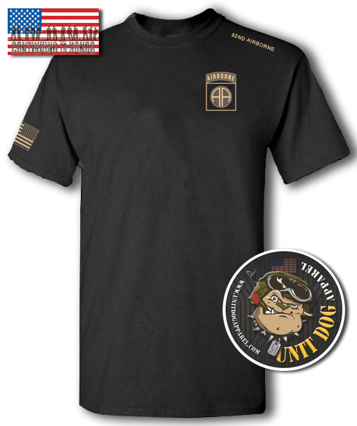 82nd AIRBORNE DIVISION - UNITDOG 1776 - Short-Sleeve T-Shirt