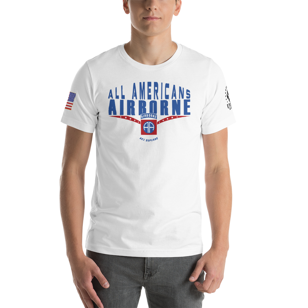 ALL AMERICANS • 82 AIRBORNE - Short-Sleeve Unisex T-Shirt