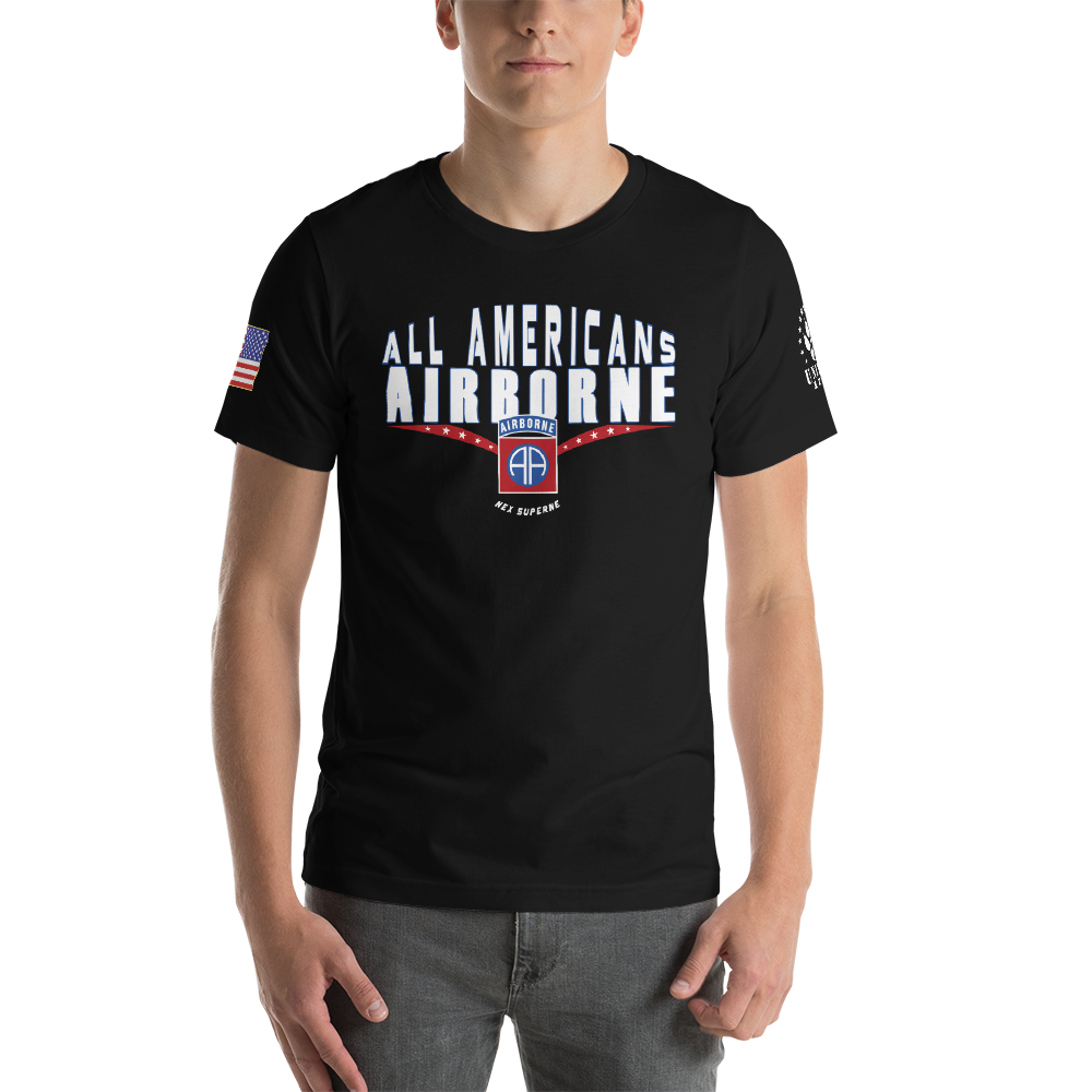 ALL AMERICANS • 82 AIRBORNE - UNITDOG 1776 - Short-Sleeve Unisex T-Shirt
