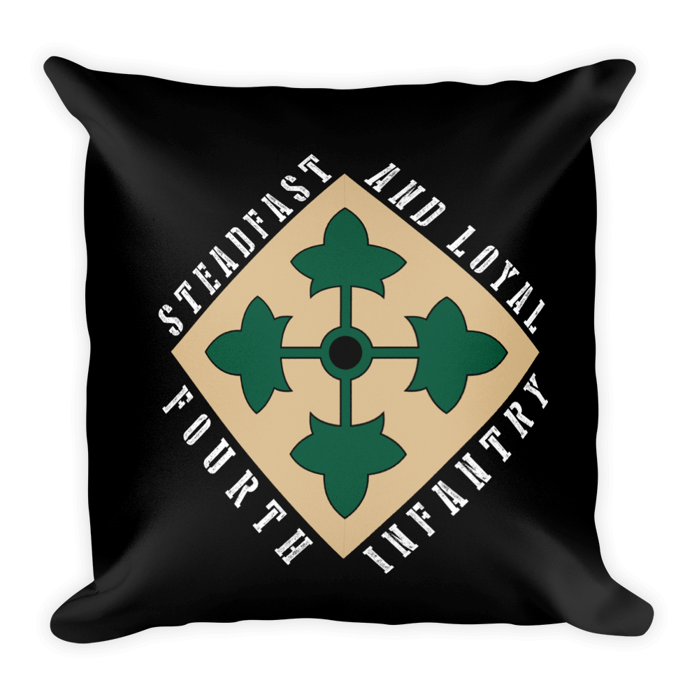 4th Infantry - STEDFAST & LOYAL - UNITDOG 1776 - Square Pillow