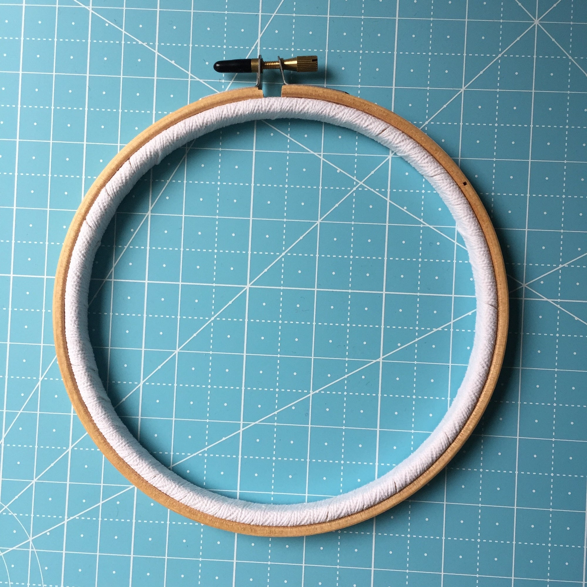 Improve Fabric Tension by Binding Your Embroidery Hoop