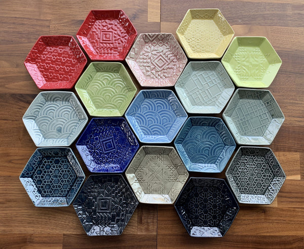 Patchwork Pottery Plates