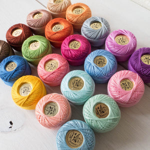 20 Color Perle Cotton Thread Collection Perle Cotton - Snuggly Monkey