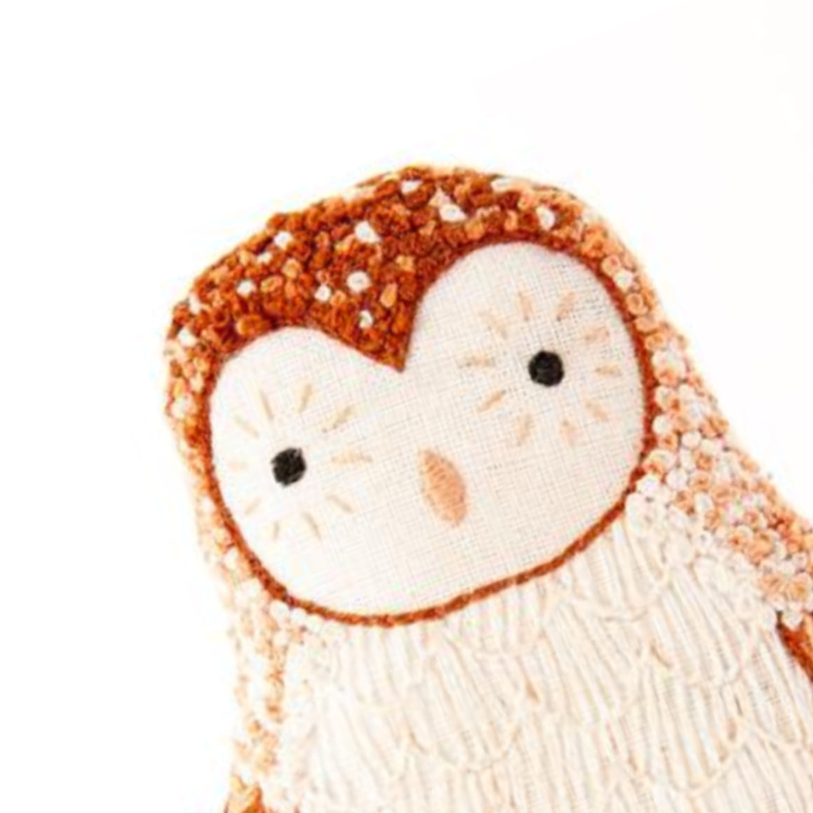Barn Owl Plushie Embroidery Kit by Kiriki Press