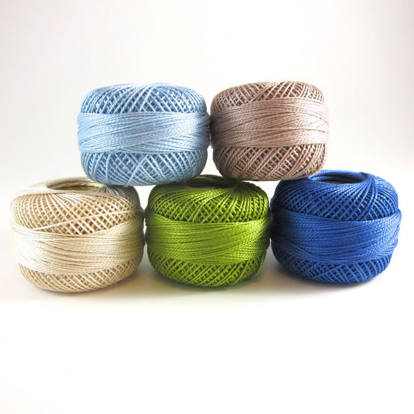 Coastal Breeze Perle Cotton Thread Collection
