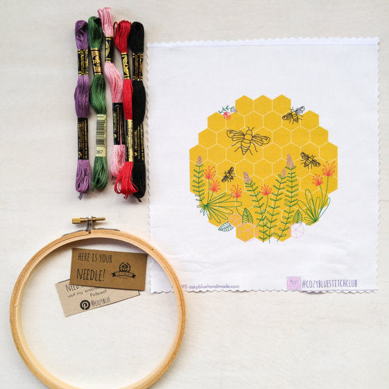 cozyblue Embroidery Kit :: Bee Lovely