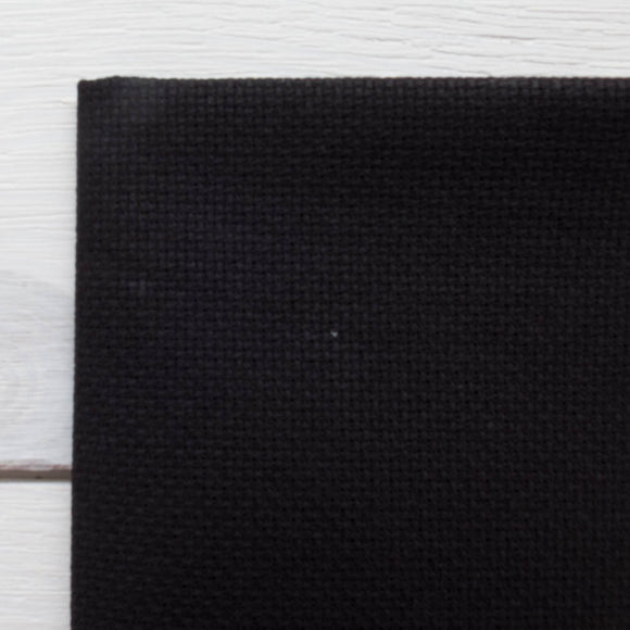 Black Aida Cross Stitch Fabric (14 ct)