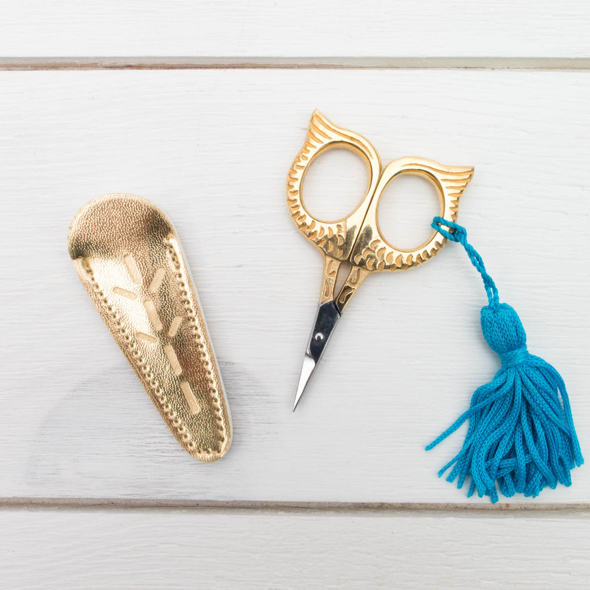 Golden Owl Eye Embroidery Scissors Scissors - Snuggly Monkey