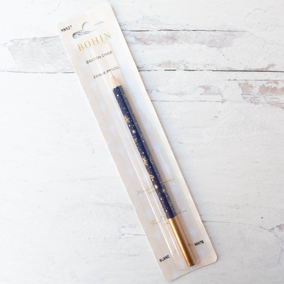 Bohin Water Soluble Marking Pencil - White