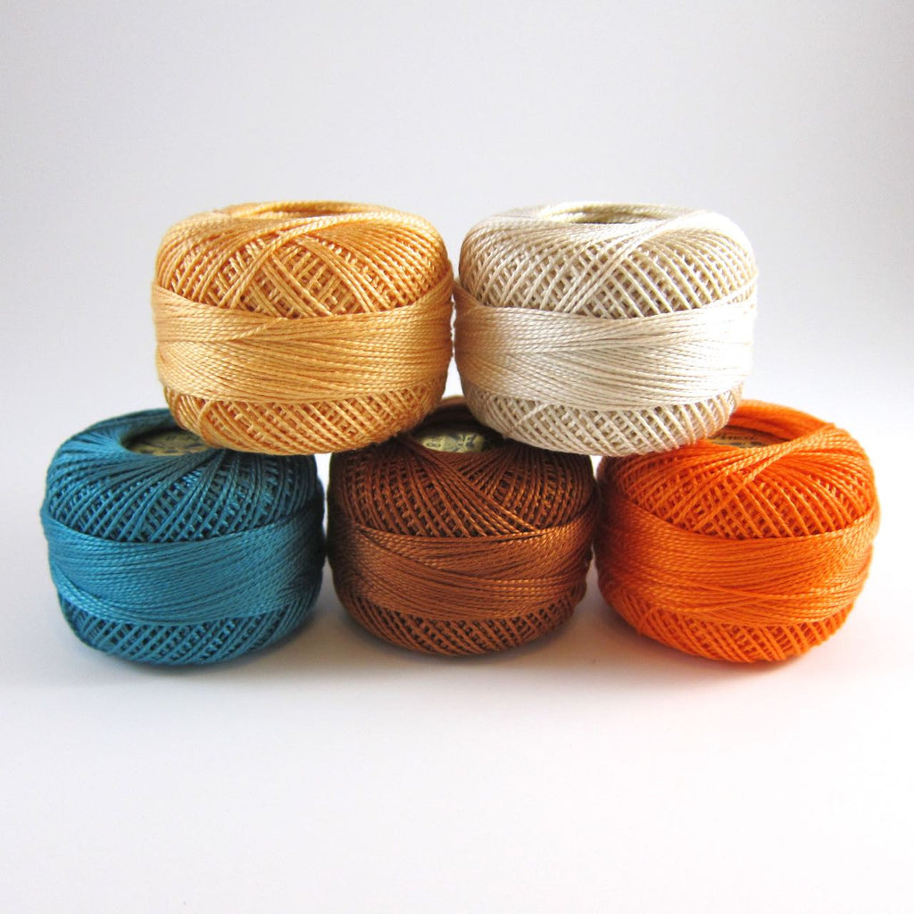 Bright Fall Pearl Cotton Thread Collection