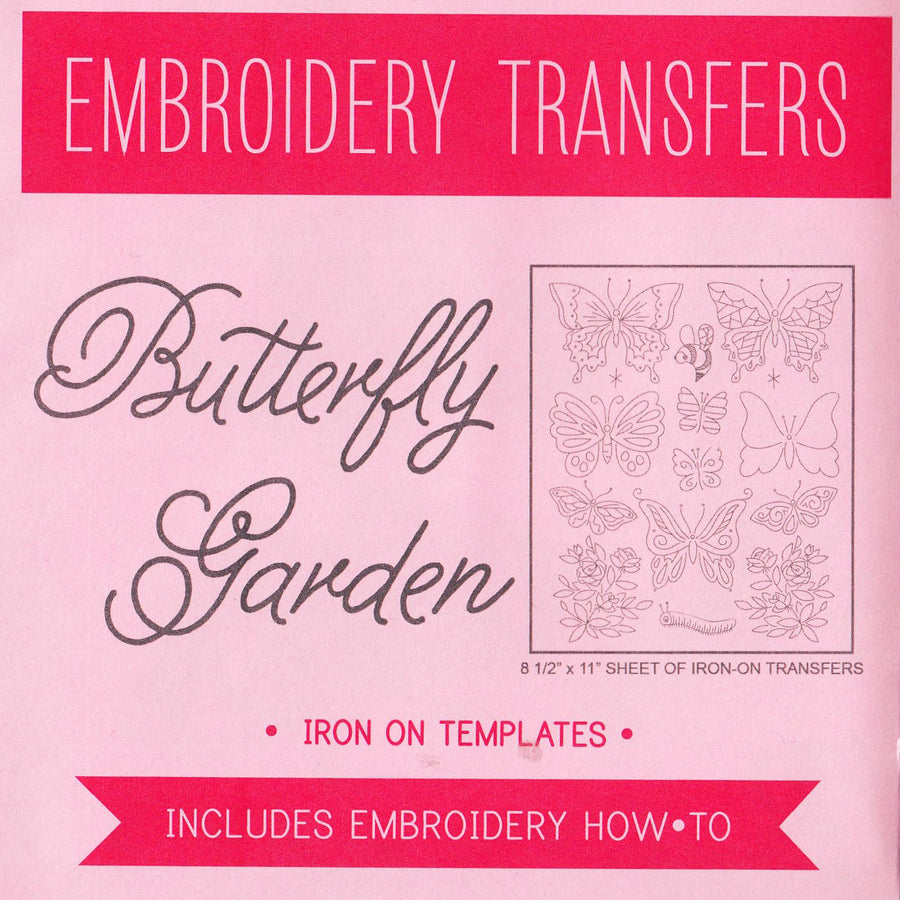 Butterly Garden Embroidery Pattern | Sublime Stitching Patterns - Snuggly Monkey