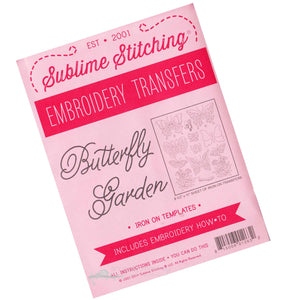 Butterly Garden Embroidery Pattern | Sublime Stitching