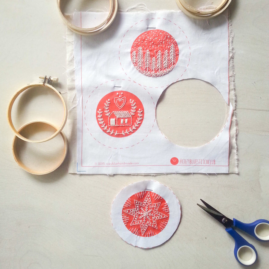 cozyblue Embroidery Kit :: Holiday Ornaments