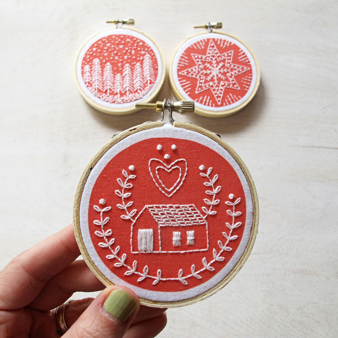 cozyblue Embroidery Kit :: Holiday Ornaments Patterns - Snuggly Monkey