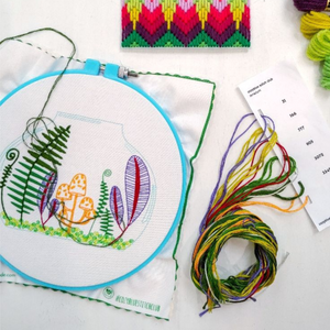 Cozyblue Summer Terrarium Embroidery Kit