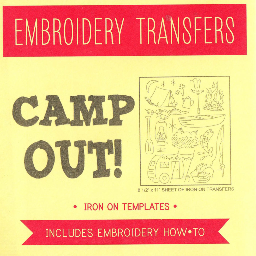 Camp Out Embroidery Pattern from Sublime Stitching
