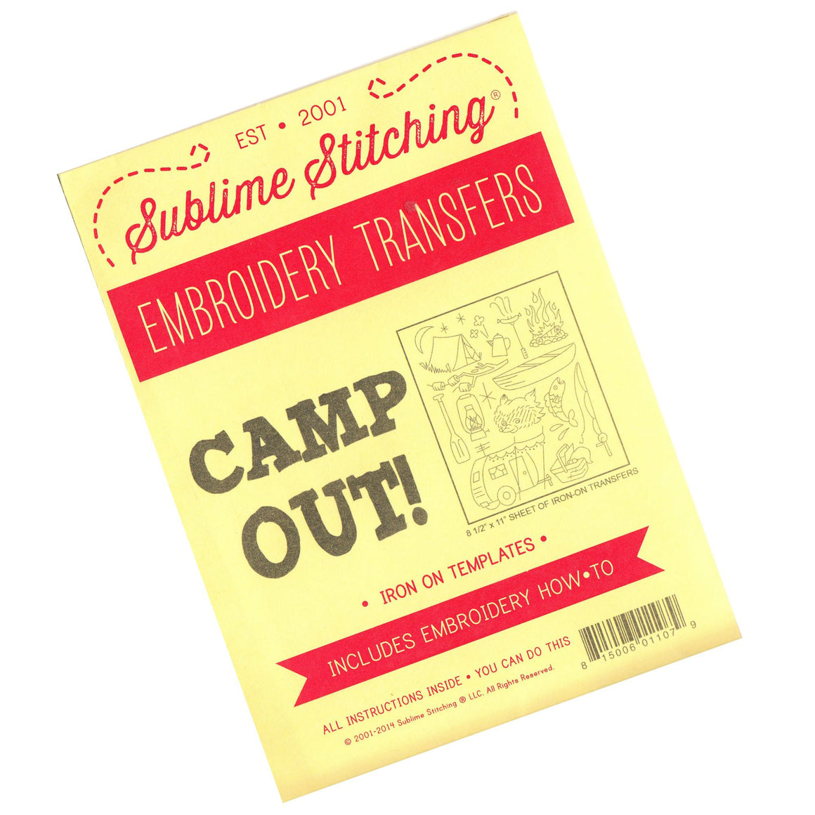 Camp Out Embroidery Pattern from Sublime Stitching Patterns - Snuggly Monkey