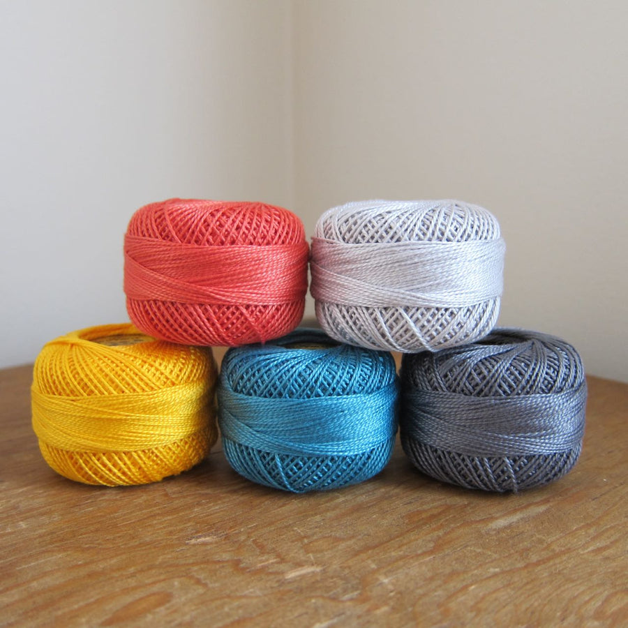 City Lights Pearl Cotton Thread Collection Perle Cotton - Snuggly Monkey