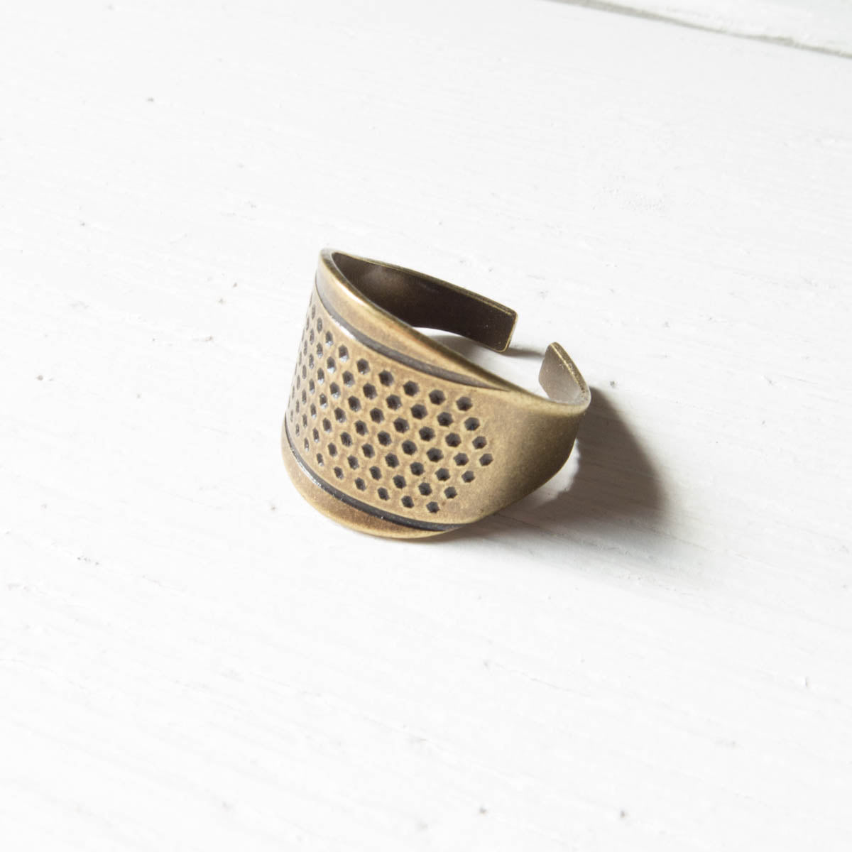 Little House Knuckle Thimble - Bronze Thimble - Snuggly Monkey
