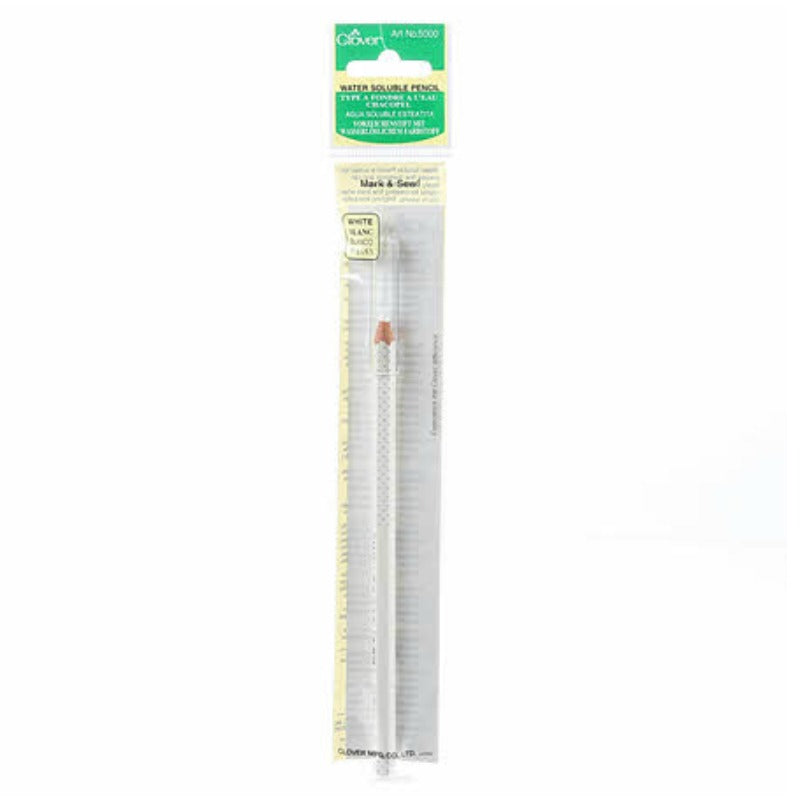 Clover Water Soluble Marking Pencil - White Notions - Snuggly Monkey